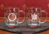 Glass Mugs- A set of 2  (19oz ) Brittannia Mugs