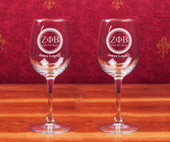 Stemware-  A set of 2 ( 12 oz )  Glasses