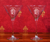 Stemware- A set of 2  (10 oz ). Martini  Glasses