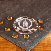 Paperweights- Clear Optic Crystal Faceted Paperweight