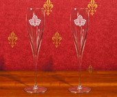 Titanium Stemware Line- A set of 2 ( 6oz ) Titanium Toasting Glasses