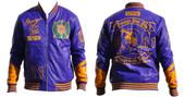 Jacket -  Omega Psi Phi PU Leather Jacket