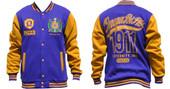Jacket  -  Omega Psi Phi Fleece Purple Jacket with Gold Sleeves