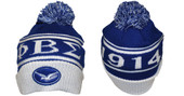 Headgear - Phi Beta Sigma  Black Cuff  with  Dove Beanie
