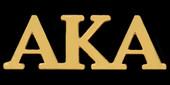 Jewelry:  3  Letter AKA Lapel  Pin ( Gold)