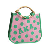 Bag - AKA Tapered Polka Dot Jute Bag