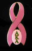 AKA Breast  Cancer Awareness Pin ( FREE SHIPPING)