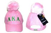 Headgear  - Pink  Alpha Kappa Alpha Pom Pom Cap
