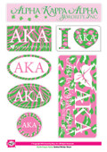 STICKERS:  ALPHA KAPPA ALPHA  ANIMAL PRINT STICKERS