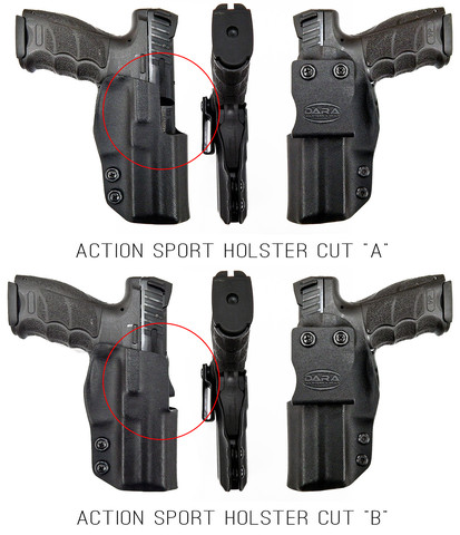 HK VP9 Holster, Glock 17 Holster, glock 22 holster, action sport holster, dara holsters, idpa holster, quick draw holster, competition holster, race holster, outside the waistband holster