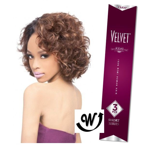 Outre 100 Remy Human Hair Weave Velvet Remi 3pcs Luxy Curl Wigextension