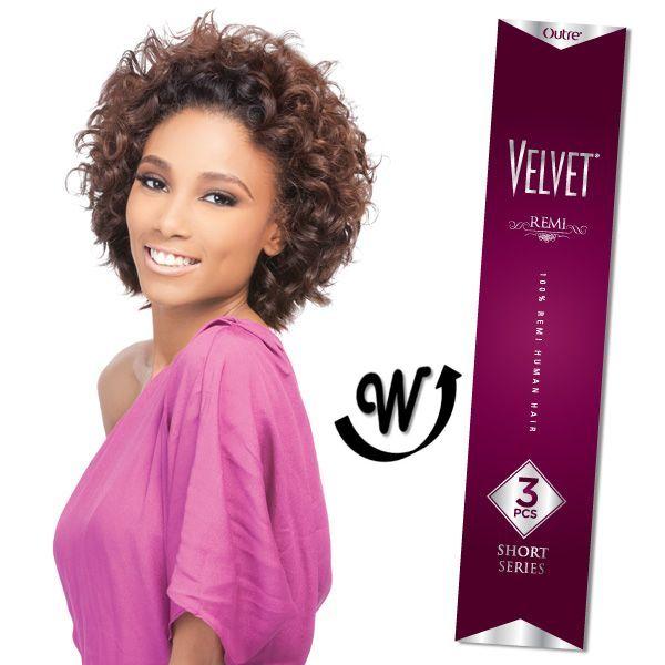 Outre 100 Remy Human Hair Weave Velvet Remi 3pcs Retro Curl