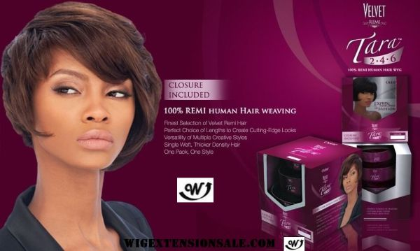 Outre 100% Remy Human Hair Weave Velvet Remi TARA 2.4.6|Wig Extension Sale