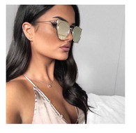 New 'Ava' mirrored designer style sunglasses in SILVER