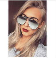 New 'Jayde' oversized aviator designer style sunglasses - SILVER MIRROR