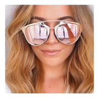 New 'Sienna' designer style sunglasses - ROSE GOLD