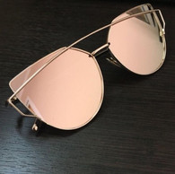'Miami' rose gold mirrored sunglasses
