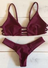 New 'Claret' bikini with brazilian style bottoms