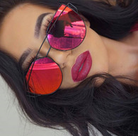 New 'Miami' metal framed sunglasses - red/orange/pink mirror