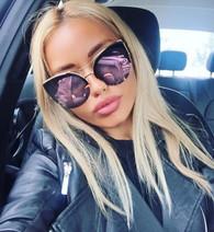 New 'Monaco' Retro cat eye shaped sunglasses - ROSE GOLD