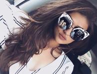 New 'Monaco' Retro cat eye shaped sunglasses - Marble