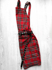 Check Me Out! Tartan pinafore dress