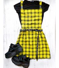 Check Me Out! Tartan pinafore dress.
