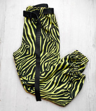 WILDSTYLE zebra print cargo style trousers