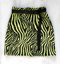 WILDSTYLE zebra print mini skirt