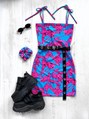*NEW* BUBBLEGUM FIZZ tube mini dress