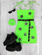 *NEW* STARGAZER NEON GREEN tube mini dress