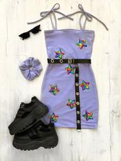 *NEW* STARGAZER LILAC tube mini dress