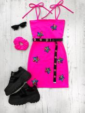 *NEW* STARGAZER NEON PINK tube mini dress