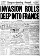 D-Day Invasion Front Page Reprint