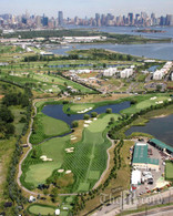 Liberty National Golf Course Aerial, 16x20 Print in 20x30 Frame