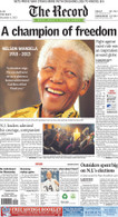 A Champion of Freedom, Dec. 6, 2013 Front Page Reprint