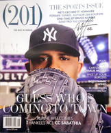 (201) Magazine (August 2009 issue) with cover signed by New York Yankee CC Sabathia