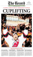 """Cuplifting"" 2003 Devils Stanley Cup Front Page Reprint"