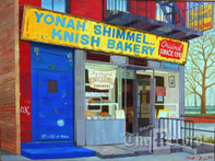 Yonah Shimmel, NYC, NY, framed oil painting on linen (Artist: Mark Oberndorf)
