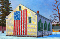 Maine Meeting House, Biddeford, ME, framed oil painting on linen (Artist: Mark Oberndorf)