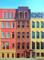 NYC Triplets, NYC, NY, framed oil painting on linen (Artist: Mark Oberndorf)
