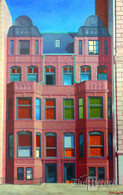 NYC Facade, NYC, NY, framed oil painting on linen (Artist: Mark Oberndorf)