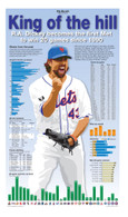 "R.A. Dickey ""King of the Hill"" 13x22 Record Stat Poster"