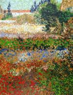 Van Gogh Flowering Garden, Wooden Puzzle