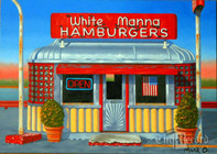 "White Manna, Hackensack, 14"" x 20"" print (Artist: Mark Oberndorf)"