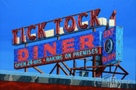 "Tick Tock Diner (2) 16"" x 24"" print (Artist: Mark Oberndorf)"