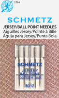 Also called Jersey Needles - the medium ball point makes them perfect for knit fabrics. System: 130/705 H SUK. Size 12/80. 5 needles per pack.