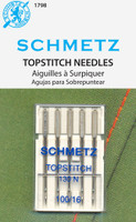 The very long eye (2mm in all sizes) makes this the perfect needle for top & decorative stitching with multiple threads and for replacing missed stitches in embroidery. System: 130 N.
