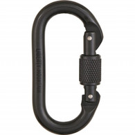 Black Oval Screwgate Carabiner by Liberty Mountain