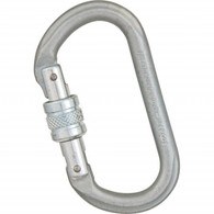 Steel Oval Screwgate Carabiner by Liberty Mountain